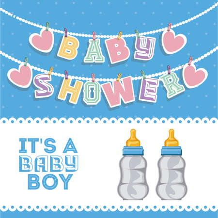 sweet background: Baby Shower design over white background, vector illustration
