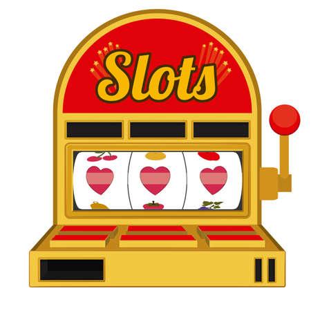 losing money: Slots design over white background, vector illustration