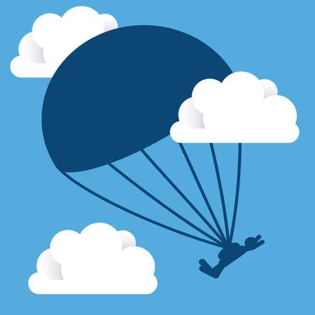 jumpsuit: Extreme Sport design over blue background, vector illustration