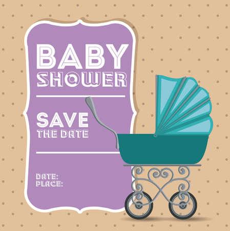 baby shower background: Baby Shower design over pastel background, vector illustration Illustration