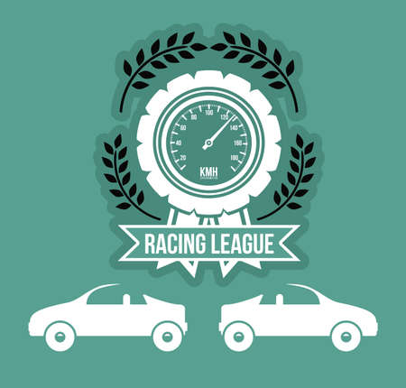 formula one racing: Racing School design over green background, vector illustration Illustration