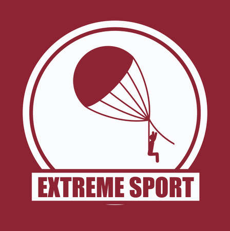 jumpsuit: Extreme Sport design over red background, vector illustration