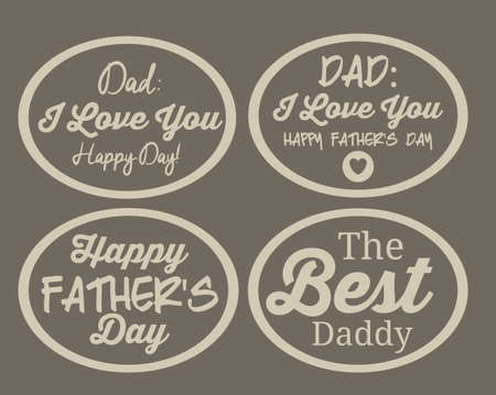 Fathers day design background with a label, vector illustration Vector