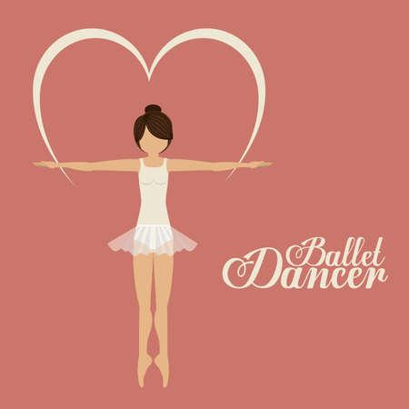 ballet dancer: Ballet dancer design over pink background, vector illustration Illustration