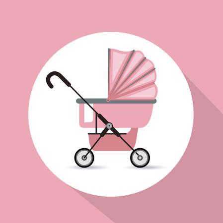 baby shower background: Baby Shower design over pink background, vector illustration Illustration