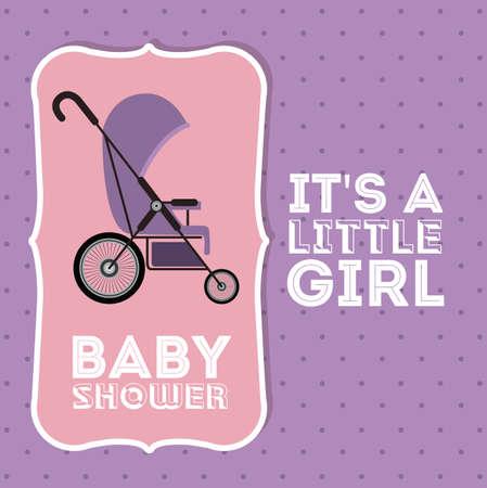 baby shower background: Baby Shower design over purple background, vector illustration Illustration