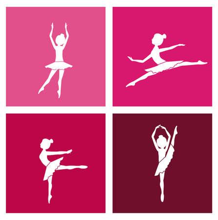 ballerina danza classica: Disegno Ballerina su sfondo bianco, illustrazione vettoriale