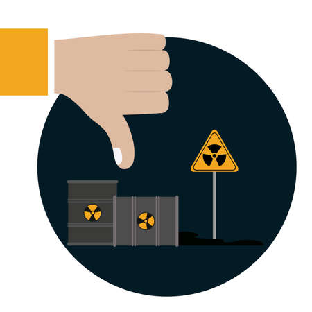 hazardous waste: Pollution design over white background, vector illustration