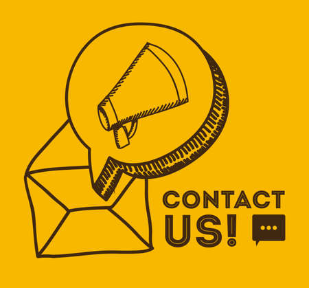 technical service: Technical service over yellow background, vector illustration