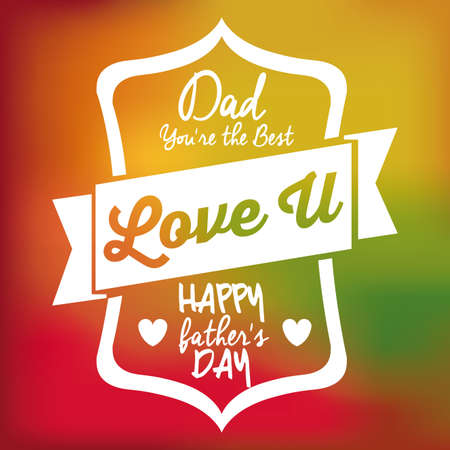 Fathers day design over colored backgrund, vector illustration Vector