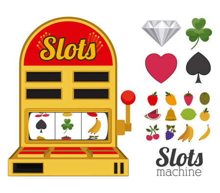 slots: Slots design over white background, vector illustration