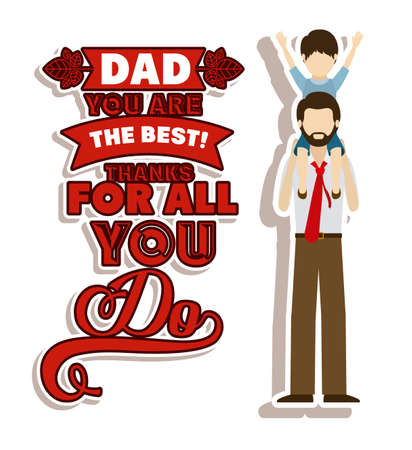 fathers day background: Fathers day design over white background, vector illustration