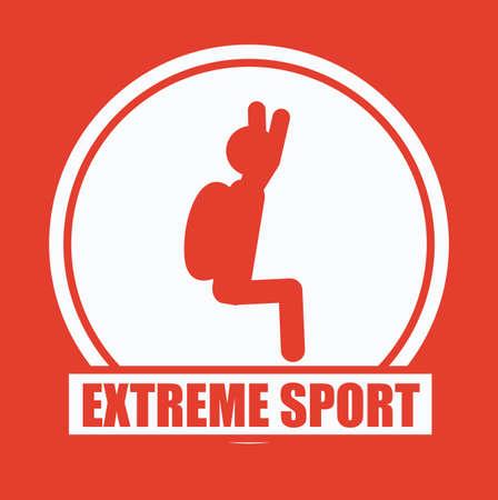 brave of sport: Extreme Sport design over red background, vector illustration