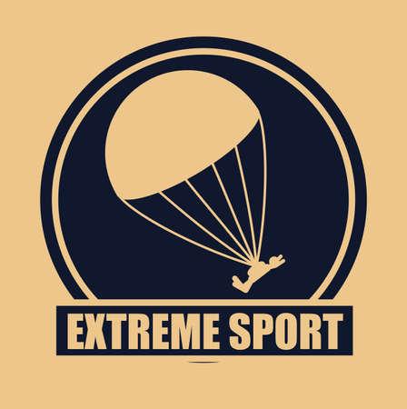 jumpsuit: Extreme Sport design over orange background, vector illustration