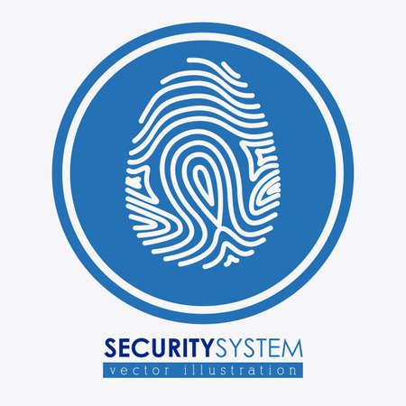 trajan: Security system design over white background, vector illustration Illustration
