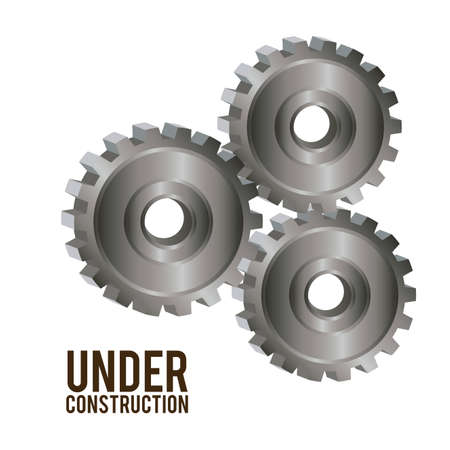 under construction symbol: Under construction design over white background, vector illustration Illustration