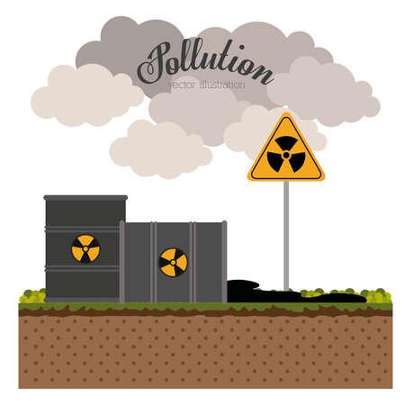 toxic barrels: Dise�o de la contaminaci�n sobre el fondo blanco, ilustraci�n vectorial Vectores