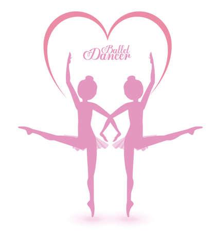 ballet dancer: Ballet dancer design over white background, vector illustration Illustration