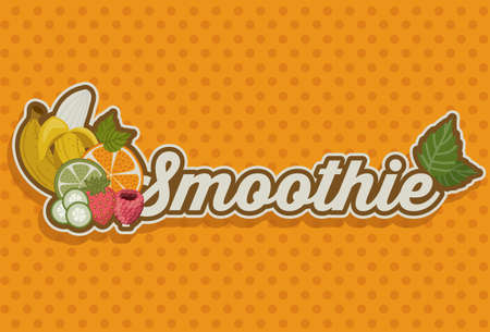 puntig: Smoothie ontwerp over puntige achtergrond, vector illustration