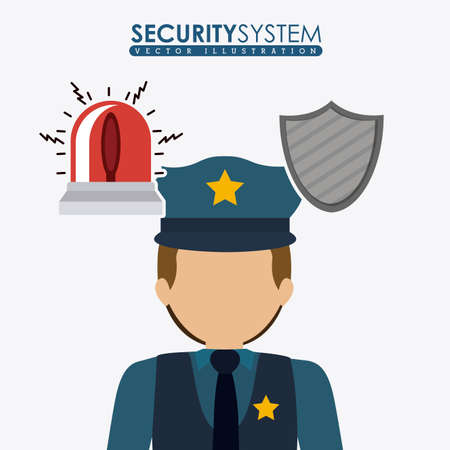 security system: Security system design over white background, vector illustration Illustration