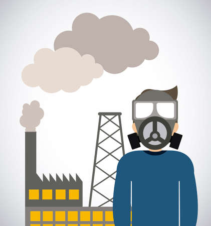 overhead: Industrial Security  design over white background, vector illustration Illustration
