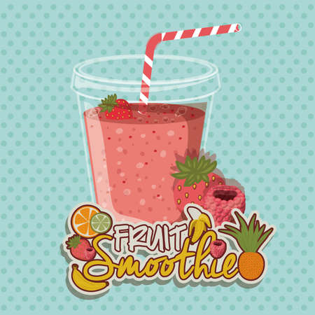 mixed drink: Smoothie design over pointed background, vector illustration Illustration
