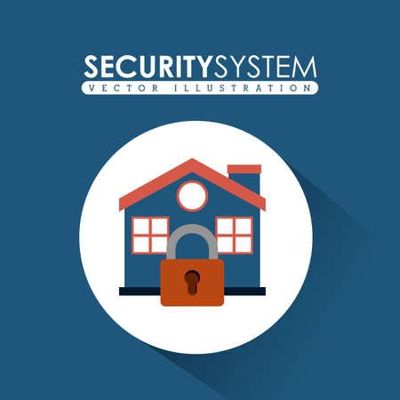 dangerous ideas: Security system design over white background, vector illustration Illustration