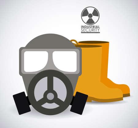 seguridad industrial: Diseño de Seguridad Industrial sobre el fondo blanco, ilustración vectorial Vectores