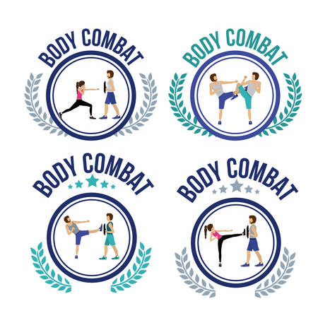 shaping: Body Combat design over white background, vector illustration