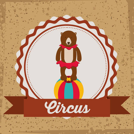 entertainer: Circus design over brown background, vector illustration