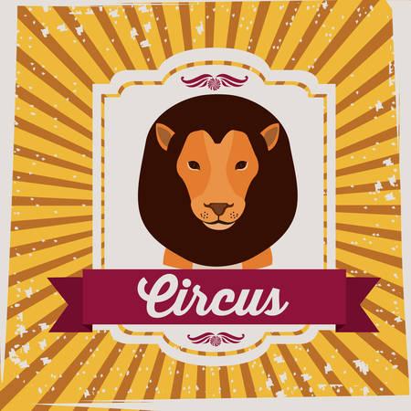 fondo de circo: Diseño Circo sobre fondo de rayas, ilustración vectorial