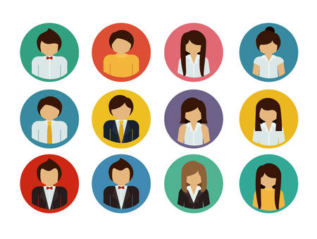 human resources strategy: Human Resources design over white background, vector illustration