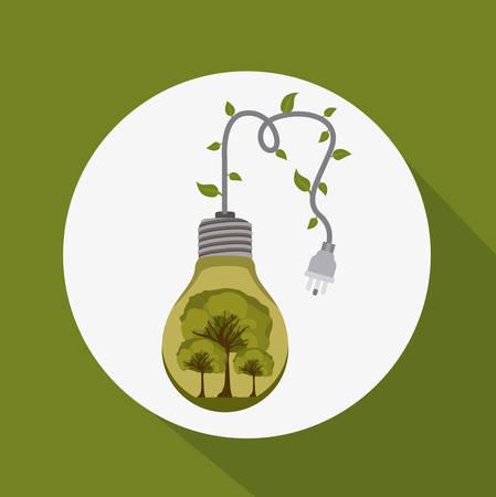 bio fuel: Bio Fuel design over green background, vector illustration Illustration