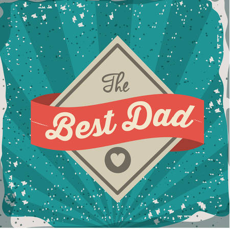 Fathers day design over retro background, vector illustration Vector