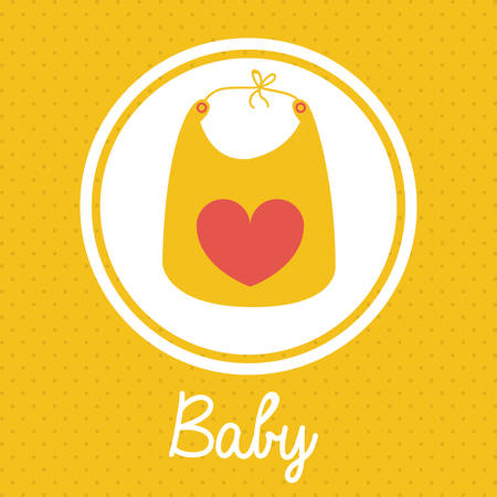 Baby Shower design over yellow background, vector illustration Illustration