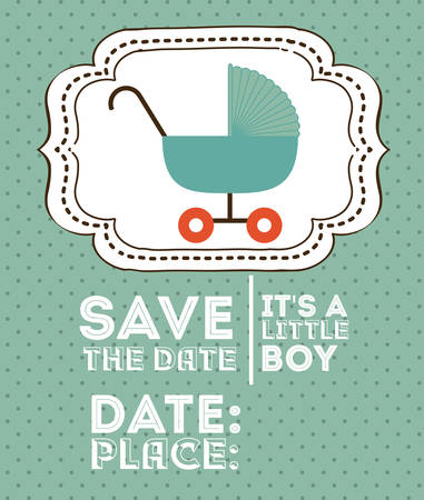 baby shower background: Baby Shower design over green background, vector illustration Illustration