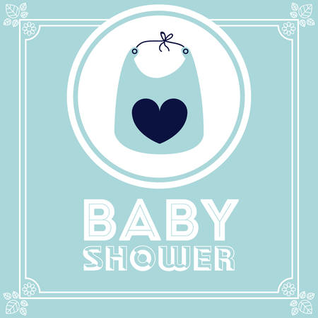 traditional background: Baby Shower design over blue background, vector illustration Illustration