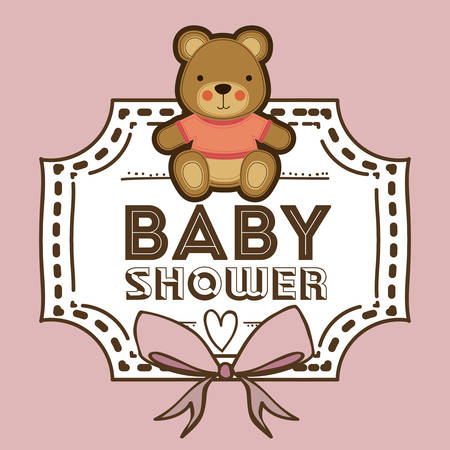 background image: Baby Shower design over pastel background, vector illustration Illustration