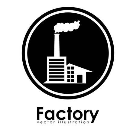 petrochemical plant: Factory design over white background, vector illustration