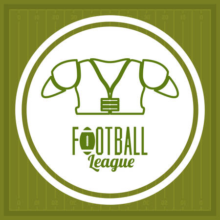 league: Football design over league background, vector illustration Illustration