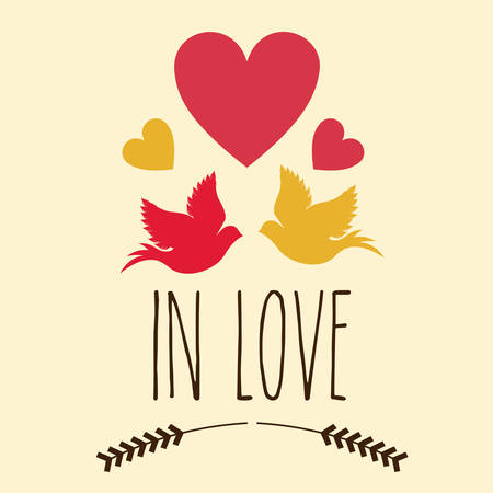 fall in love: Love design over white background, vector illustration Illustration