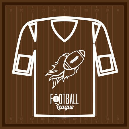 league: Football design over league background, vector illustration Illustration
