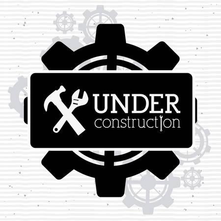 Under construction design over white background, vector illustration  イラスト・ベクター素材