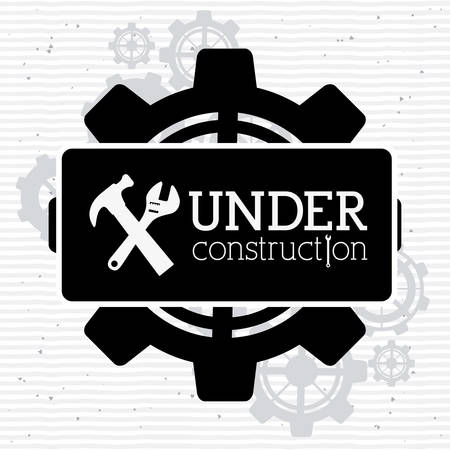 Under construction design over white background, vector illustration Иллюстрация