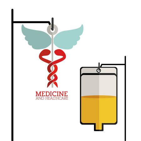 biomedical: Medicina e sanit� disegno su sfondo bianco, illustrazione vettoriale Vettoriali