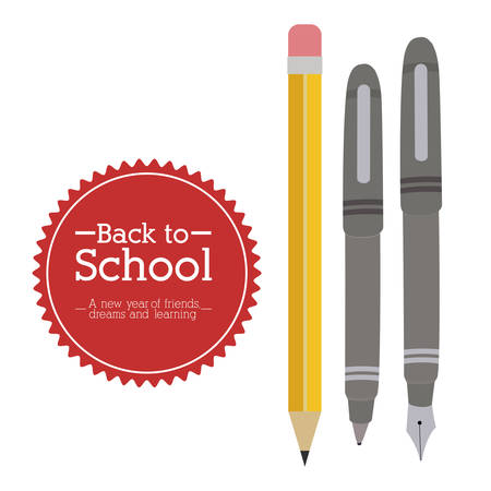 schoolchildren: Back to school design over white background, vector illustration