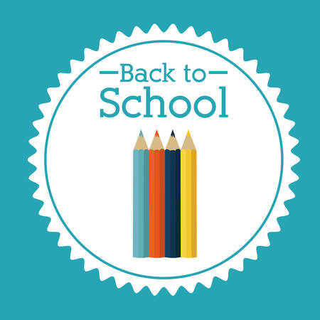 schoolchildren: Back to school design over blue background, vector illustration