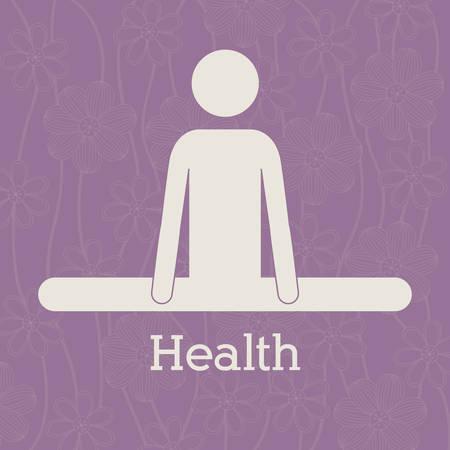 heathy: Heathy Lifestyle design over purple background, vector illustration