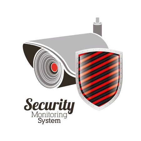 value system: Security system design over white background, vector illustration Illustration