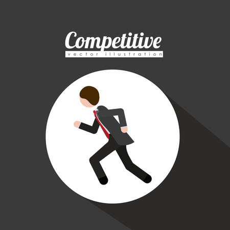 competitive: Competitive design over grey background, vector illustration